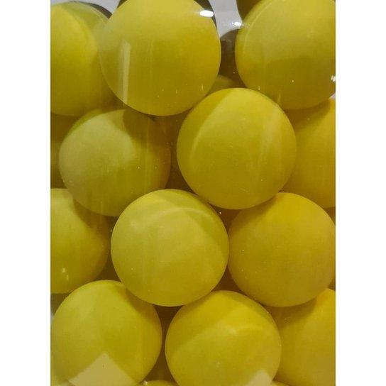 Pacote Com 6 Unidades De Bolas / Bolinhas De Ping Pong 38mm - Amarelo