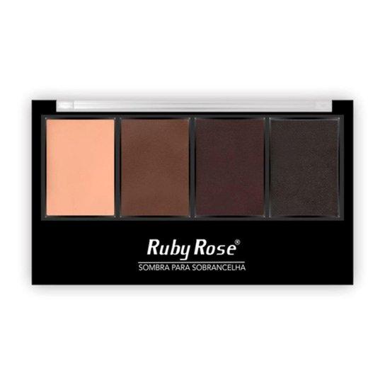 Paleta Para Sobrancelha Ruby Rose HB9354 - Colorido