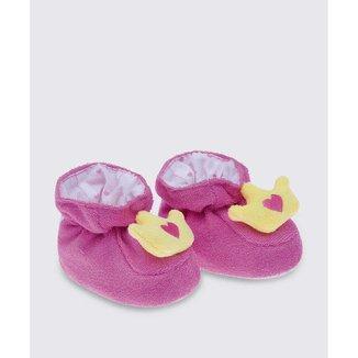 Pantufa Infantil Bebê Pelúcia Coroa Pimpolho - 10047664944