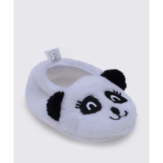 Pantufa Infantil Bebê Pelúcia Panda Pimpolho - 10047664692