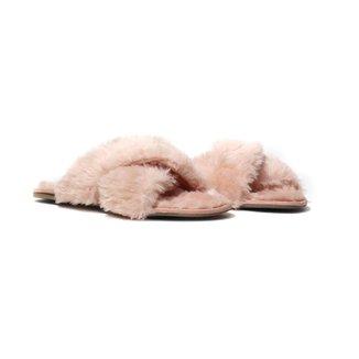 Pantufas Flat Homewear Becca, Feminina