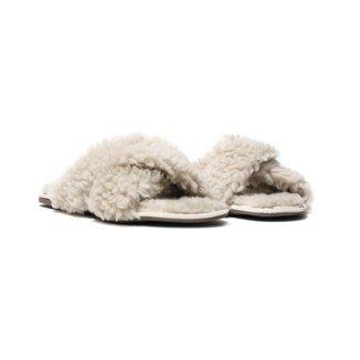 Pantufas Flat Homewear Becca, Palha Feminina