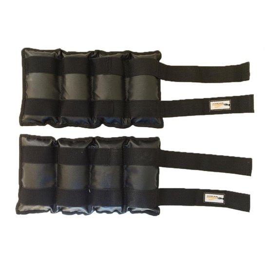 Par De Caneleiras de Peso Tornozeleiras Pretas - 10 kg - Preto