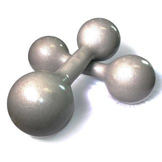 Par de Halter 10 Kg Natural Fitness Emborrachado Musculação