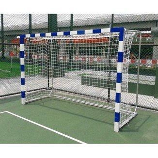 Par de Redes para Traves de Gol Futsal Fio 6mm Caixote Nylon