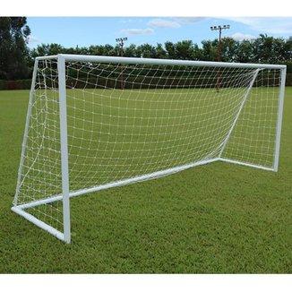 Par de Redes para Traves de Gol Society Véu 4mm Nylon