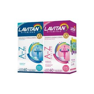 Par Lavitan Suplemento A Z Homem + Mulher 60comprimidos