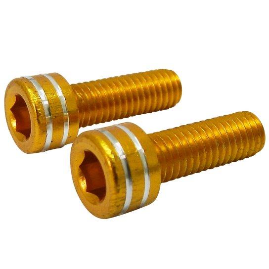 Parafuso Calypso para Suporte de Garrafa  em Alumínio - Amarelo