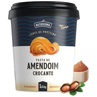Pasta Amendoim Integral Nutríssima - 1010g Crocante