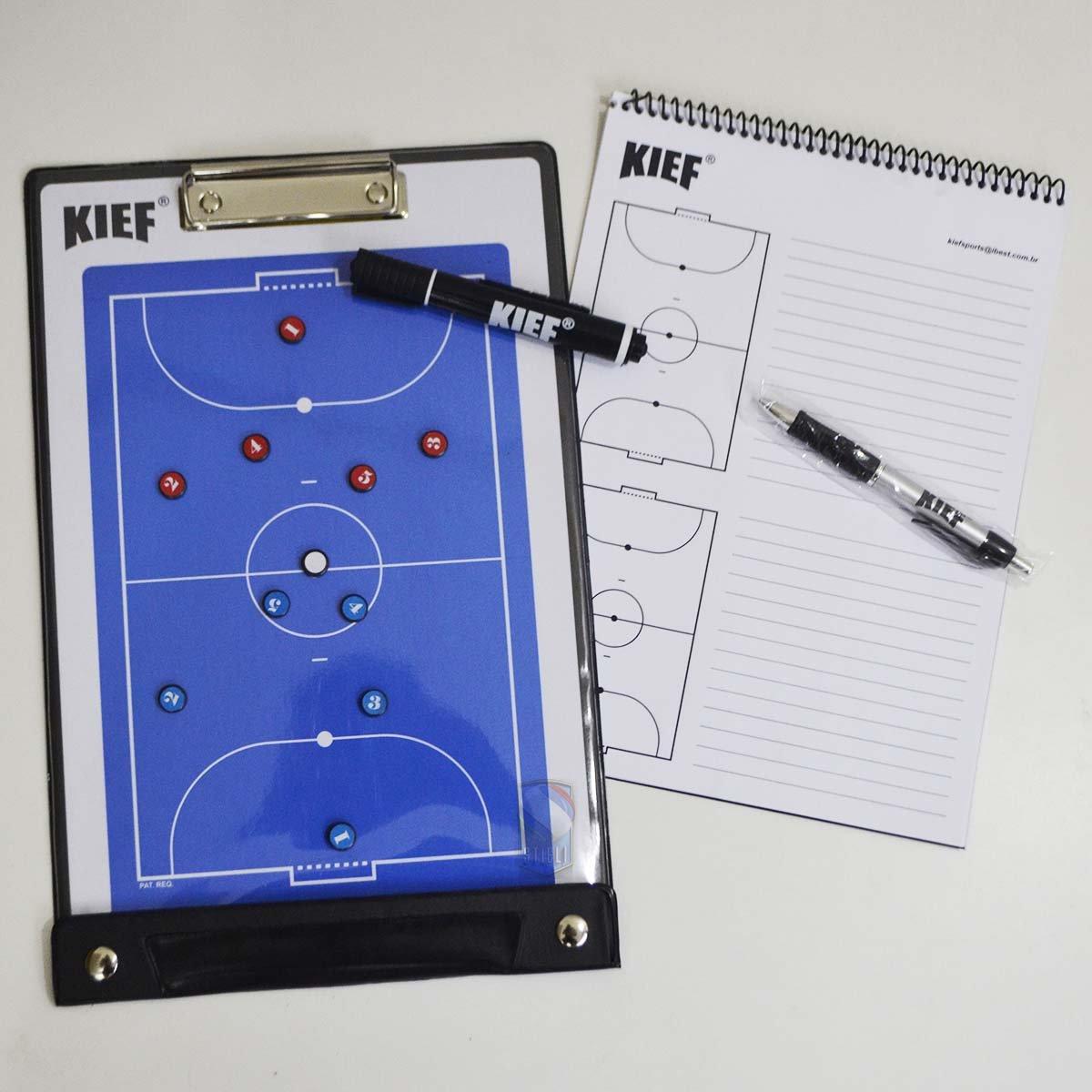 Pasta Com Prancheta Tática Magnética Futsal Kief - Branco - Compre ... 3d2ed3d31e84c