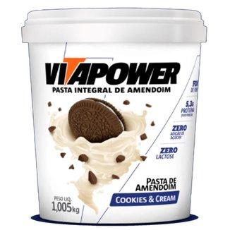 Pasta de Amendoim 1,005kg Cookies e Cream - Vitapower