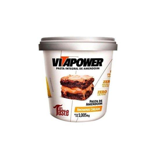 Pasta De Amendoim 1kg - Vitapower - Brownie Cream -