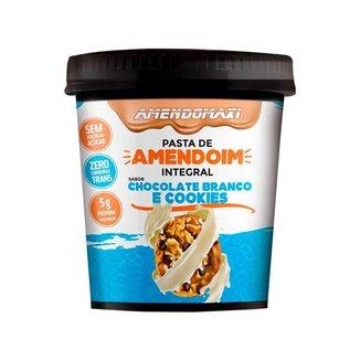 Pasta De Amendoim 500g - Chocolate branco com cookies - Amendomaxi