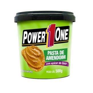 Pasta de Amendoim 500gr com açúcar de côco - Power One
