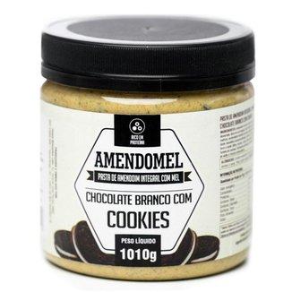 Pasta de Amendoim Amendomel 1Kg Choc Branco com Cookies
