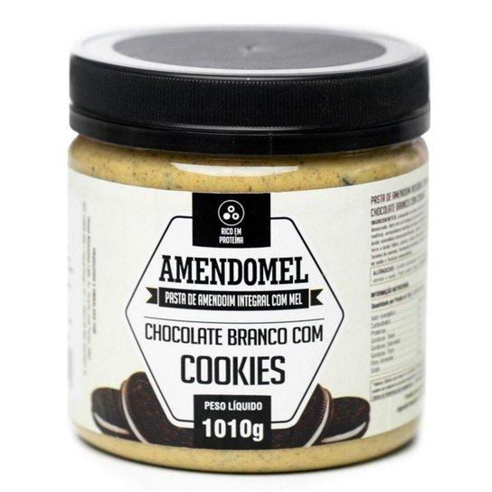 Pasta de Amendoim Amendomel 1Kg Choc Branco com Cookies -