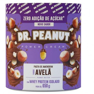 Pasta de amendoim Avelã com Whey Protein Isolado (650G) - Dr Peanut