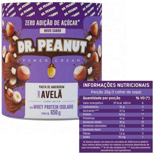 Pasta de amendoim Avelã com Whey Protein Isolado (650G) - Dr Peanut -