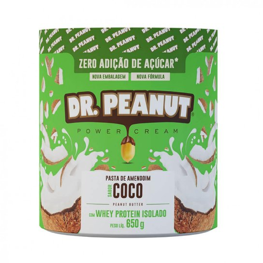 Pasta de Amendoim c/ Whey Protein Isolado (650 g) - Dr. Peanut -
