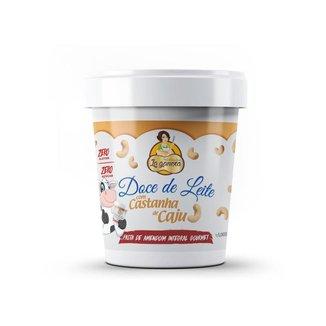 Pasta de Amendoim Doce de Leite com Castanha de Caju 1kg La Ganexa