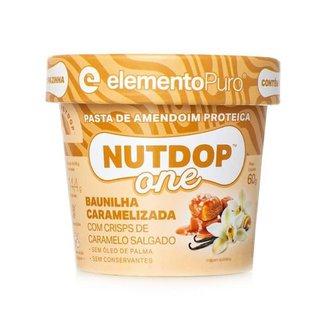 Pasta de Amendoim ElementoPuro Nutdop One - 1 Unidade 60g Baunilha Caramelizada