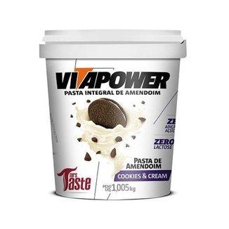 Pasta de Amendoim Integral Cookies & Cream (1kg) - VitaPower