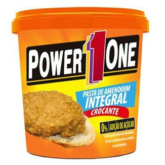 Pasta De Amendoim Power One Integral Crocante 0% De Acucar 1 Kg