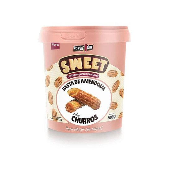 Pasta de Amendoim Sweet - 500g Churros - Power One -