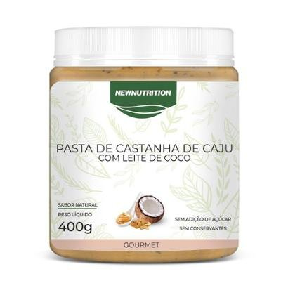 Pasta de castanha de cajú 400g NewNutrition