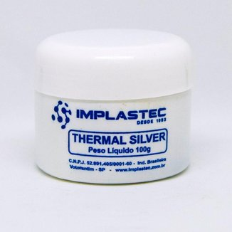 Pasta Térmica Implastec - Thermal Silver - pote 100g