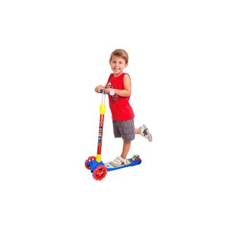 Patinete Infantil Patrulha Da Justiça Com Acessórios - Dm Toys