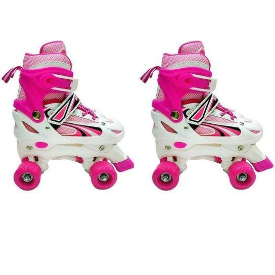 Patins 4 Rodas Infantil Xplast 4262 - Pink