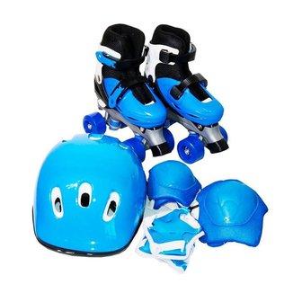 Patins ImportWay BW017 C/ Kit de Proteção Azul -