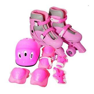 Patins ImportWay BW017 C/ Kit de Proteção Rosa -