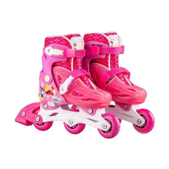 Patins Infantil Inline 2 Em 1 Multikids Princesas - Rosa