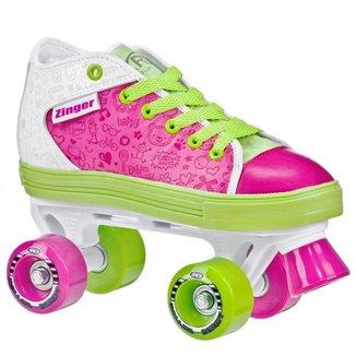Patins Infantil Quad Roller Derby Zinger Girl
