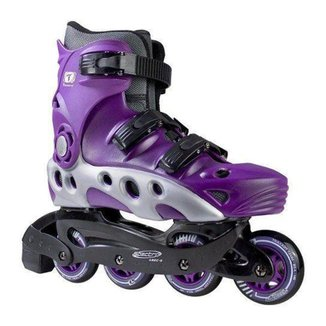 PATINS INLINE TRAXART SPECTRO ROXO 72MM ABEC-5