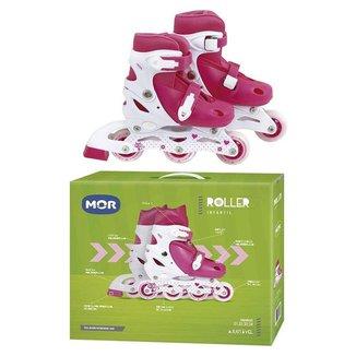 Patins Mor Roller Infantil Rosa - 34 Ao 37 Ref:40600123