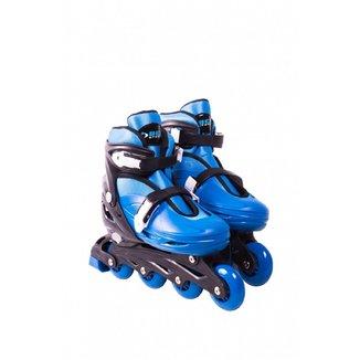 Patins Roller In-Line Radical Ajustável Azul (P 28-31)