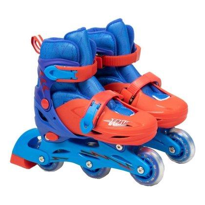 Patins Roller Infantil Inline E Triline Com Proteçao 28 A 31