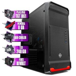 PC Computador Intel I5, Cooler Alten, TGT H61, 8GB DDR3, SSD 240GB
