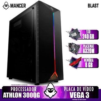 PC Gamer Mancer, AMD 3000G, 8GB DDR4, SSD 240GB, 400W
