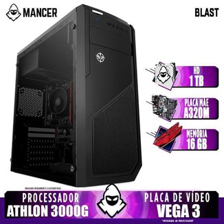 PC Gamer Mancer, AMD 3000G,16GB DDR4, HD 1TB, 400W