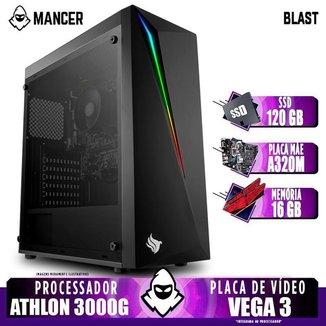 PC Gamer Mancer, AMD 3000G,16GB DDR4, SSD 120GB, 400W
