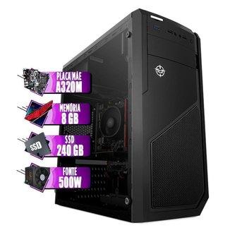 PC Gamer Mancer, AMD A6-9500E, GT 710 2GB, 8GB DDR4, SSD 240GB