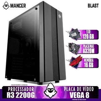 PC Gamer Mancer, AMD Ryzen 3 2200G, 16GB DDR4, SSD 120GB, 400W