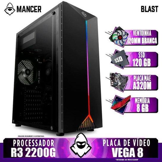 PC Gamer Mancer, AMD Ryzen 3 2200G, 8GB DDR4, SSD 120GB, 400W + Ventoinha - Preto