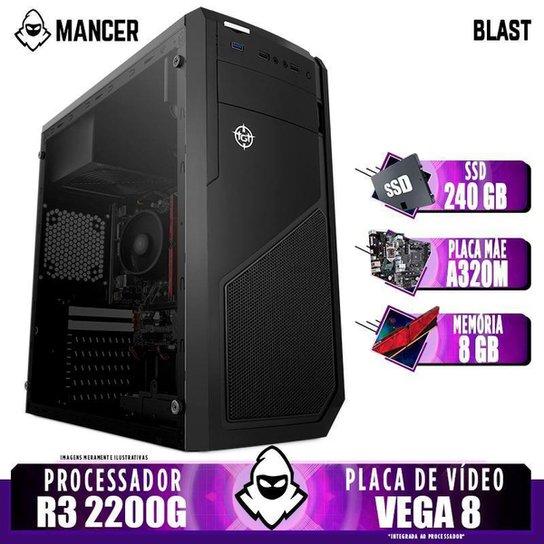 PC Gamer Mancer, AMD Ryzen 3 2200G, 8GB DDR4, SSD 240GB, 400W - Preto
