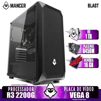 PC Gamer Mancer, AMD Ryzen 3 2200G, B450M, 16GB DDR4, HD 1TB, 400W