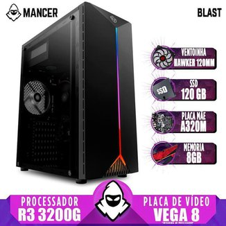 PC Gamer Mancer AMD Ryzen 3 3200G A320M 8GB DDR4 SSD 120GB 400W + Ventoinha